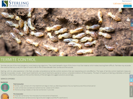Sterling Pest Control Services Pvt. Ltd., Mumbai, (India) - Termite Control